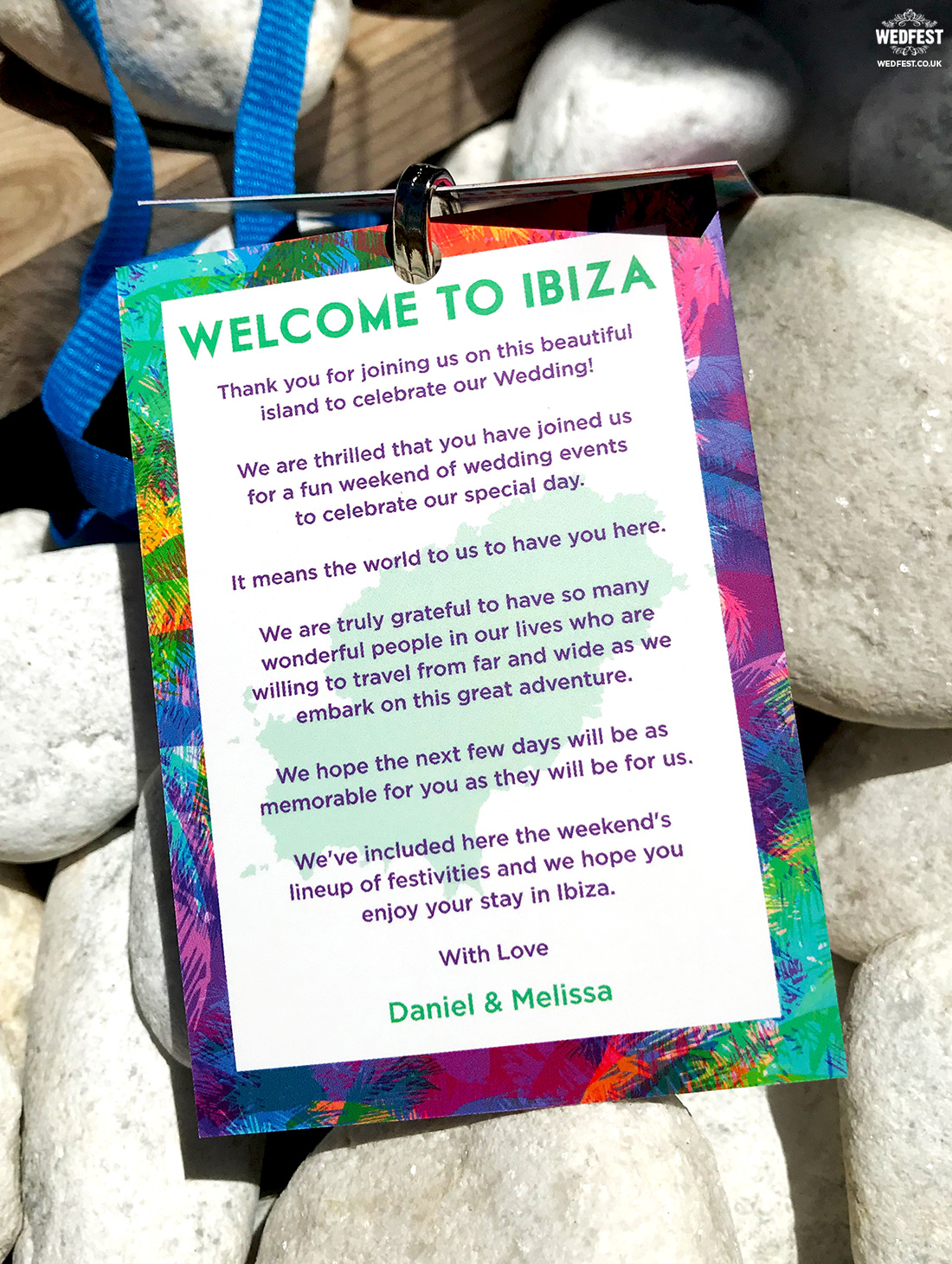 ibiza wedding stationery welcome pack