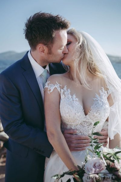 ibiza weddings bride groom rooftop wedding