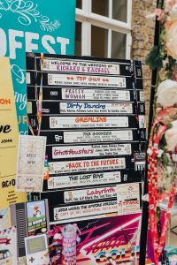 vhs movies wedding table seating plan chart