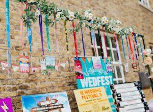 wedfest festival wedding lanyards rock n roll bride live