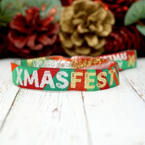 XMASFEST christmas party festival wristbands bracelets