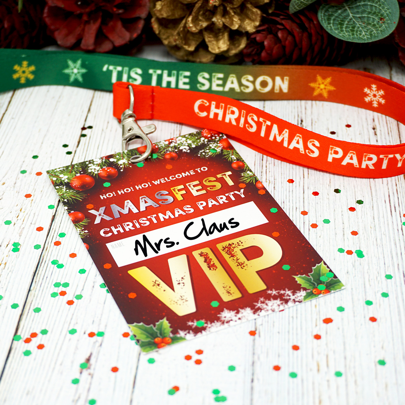XMAS FEST christmas party vip lanyard