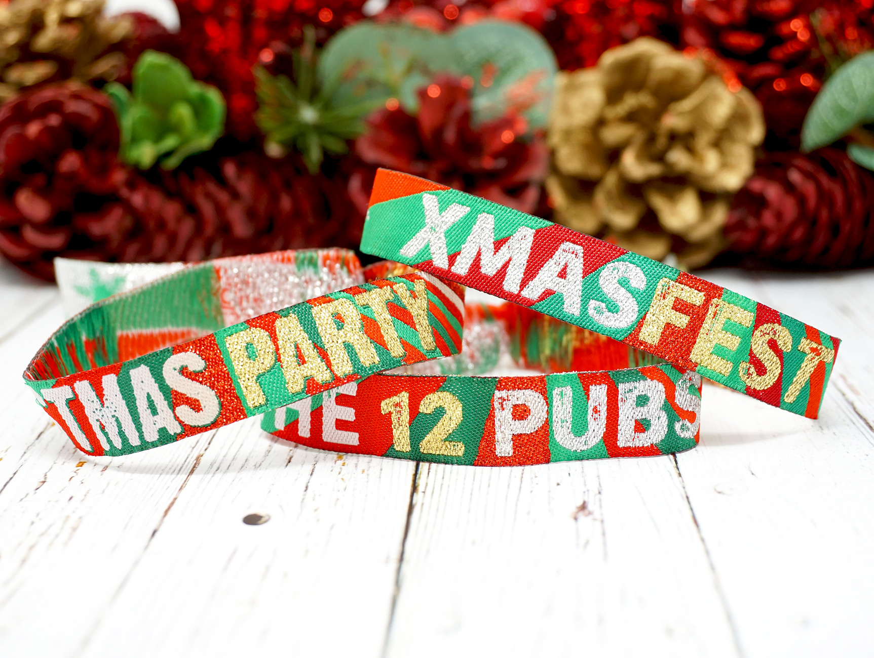office christmas lockdown party wristbands