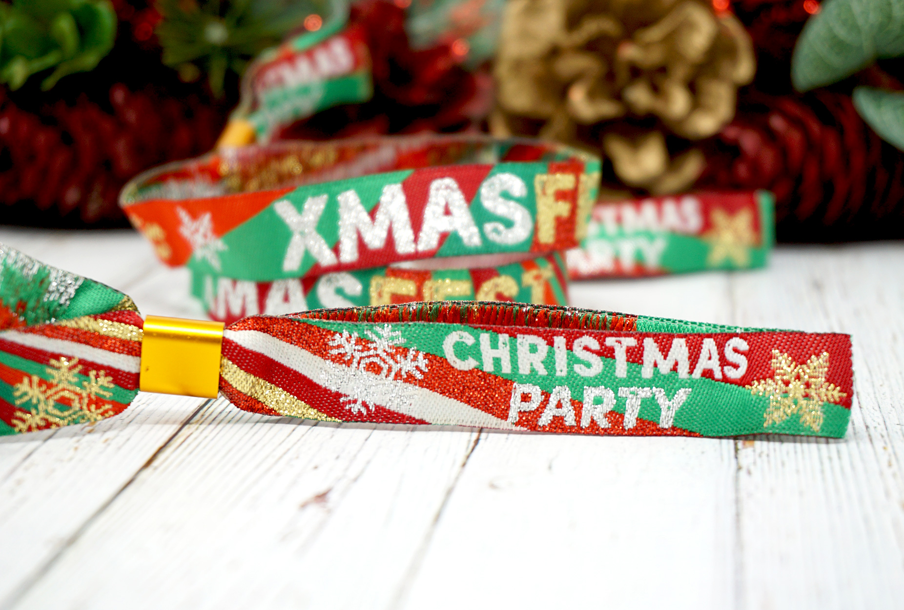 xmas fest festival theme christmas party wristbands