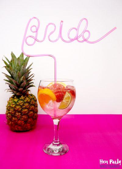 bride straw hen party accessory