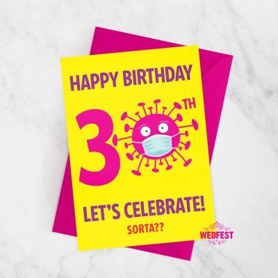 corona virus covid lockdown 30th birthday card