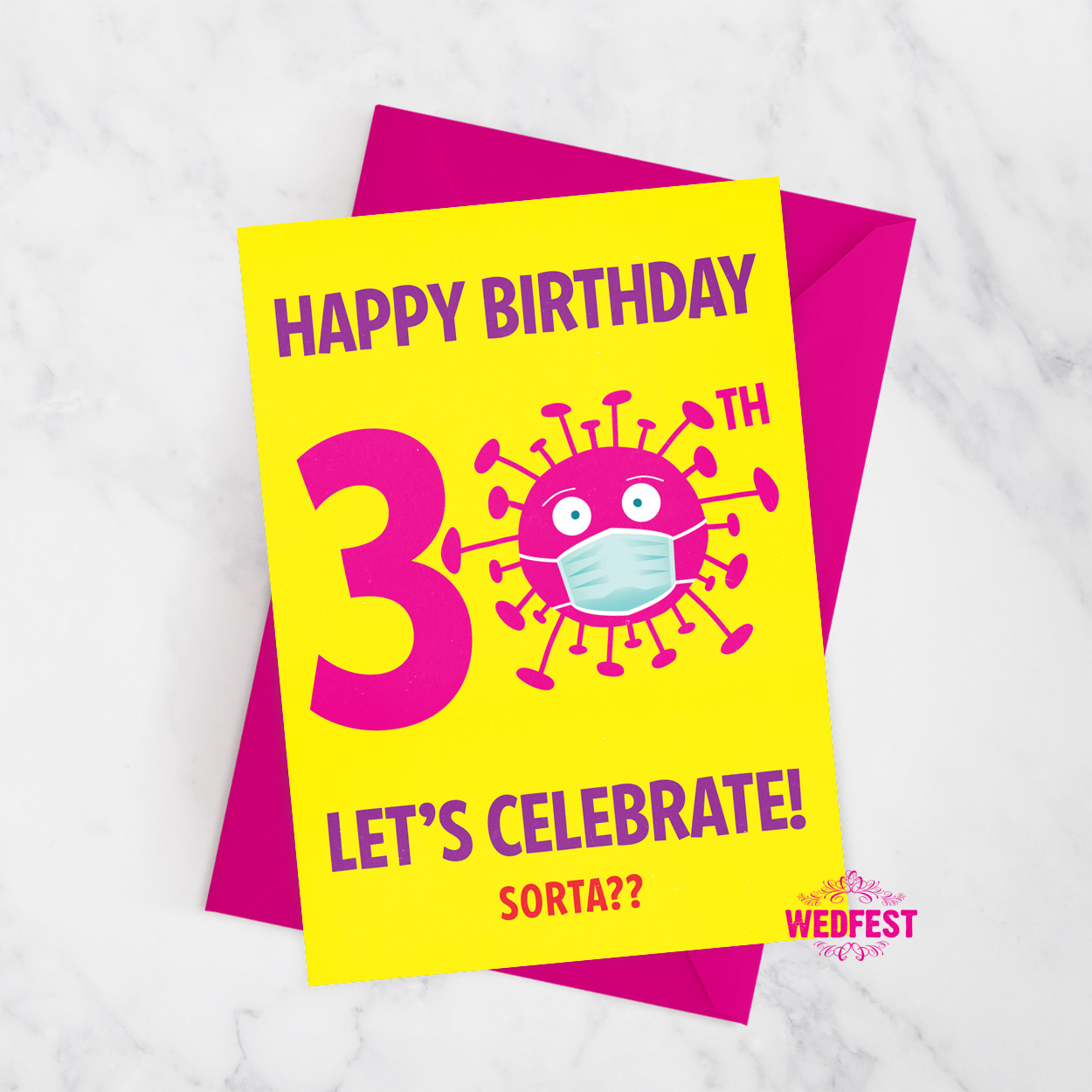 corona virus covid lockdown 30th birthday card