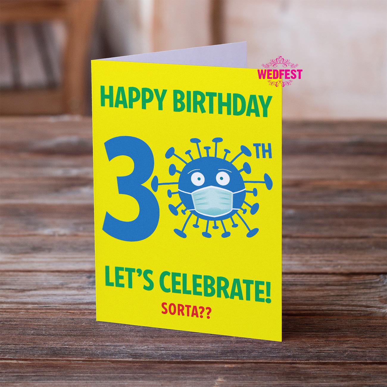 coronavirus covid lockdown 30th birthday cards