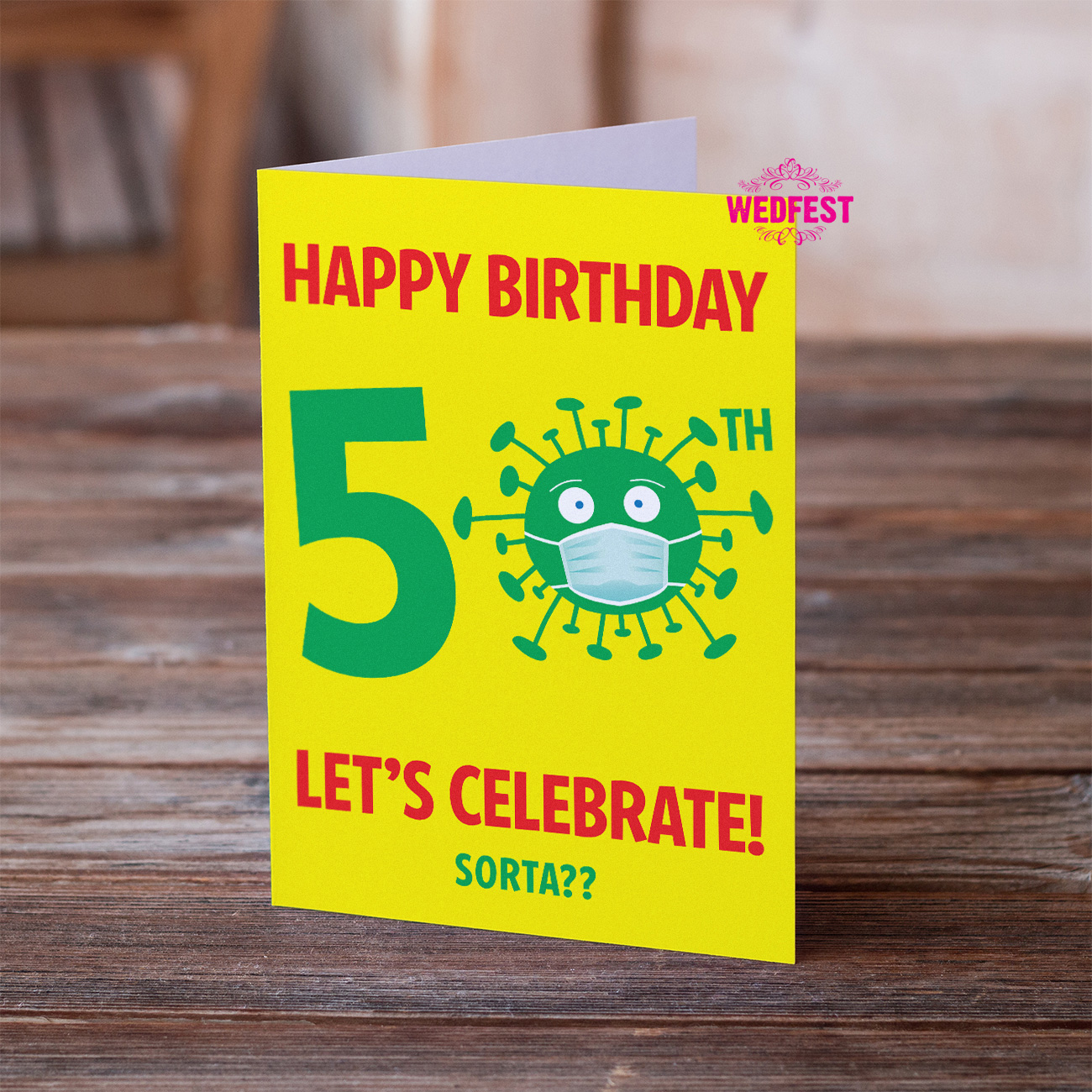 coronavirus covid lockdown 50th birthday cards
