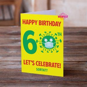lockdown coronavirus covid 60th birthday cards
