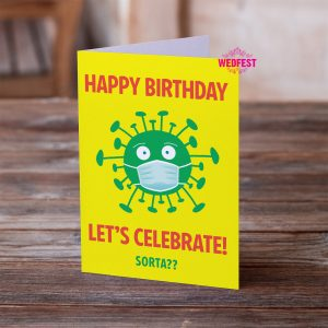 coronavirus covid lockdown birthday card
