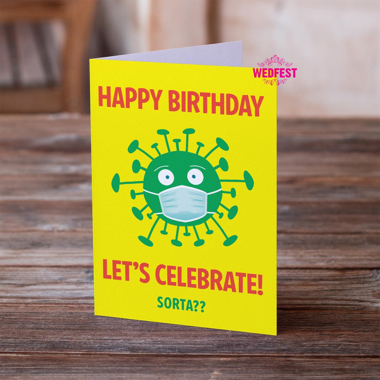 coronavirus covid lockdown birthday card