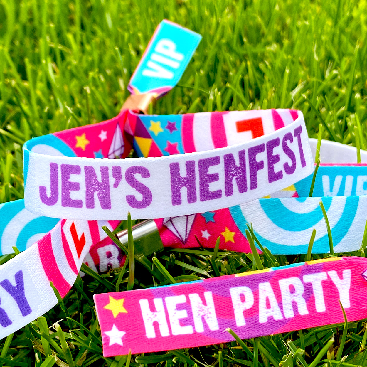 customised henfest hen party wristbands