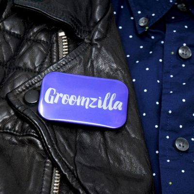 groom to be groomzilla badge