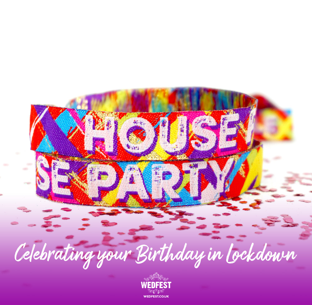 lockdown house party birthday party wristbands