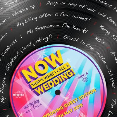 now thats what i call music vinyl wedding stationery
