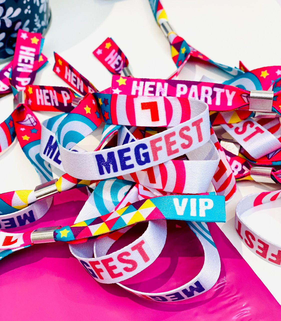 personalised customised hen do wristbands