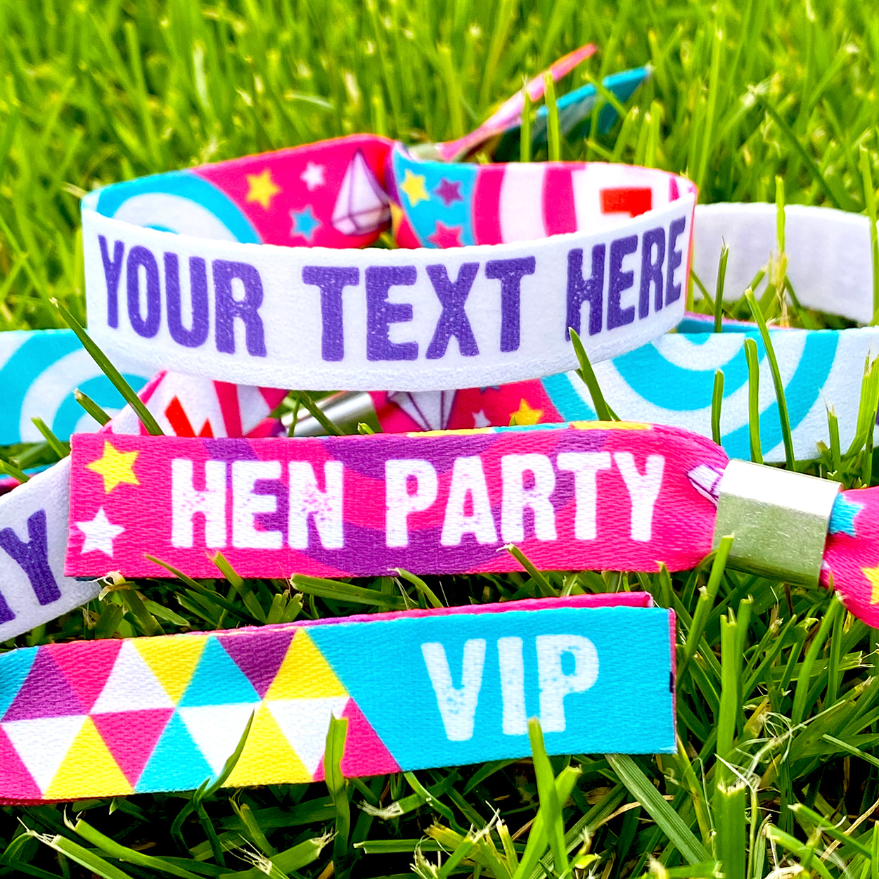 personalised customised hen party wristbands