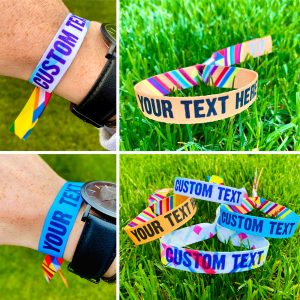 personalised festival hen party wristbands