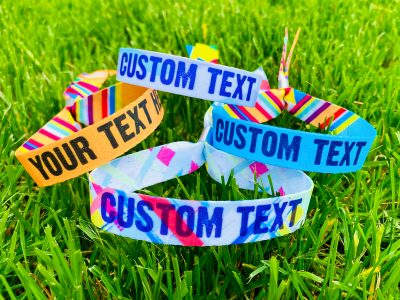 personalised festival party wristbands wedfest