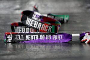 till death do us part wedrock wedding wristbands