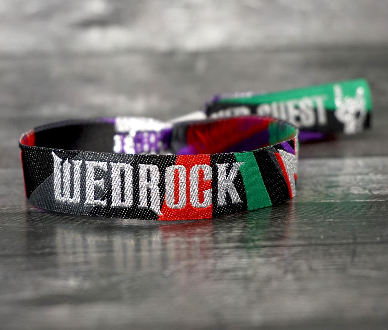 wedrock rock & roll wedding wristbands