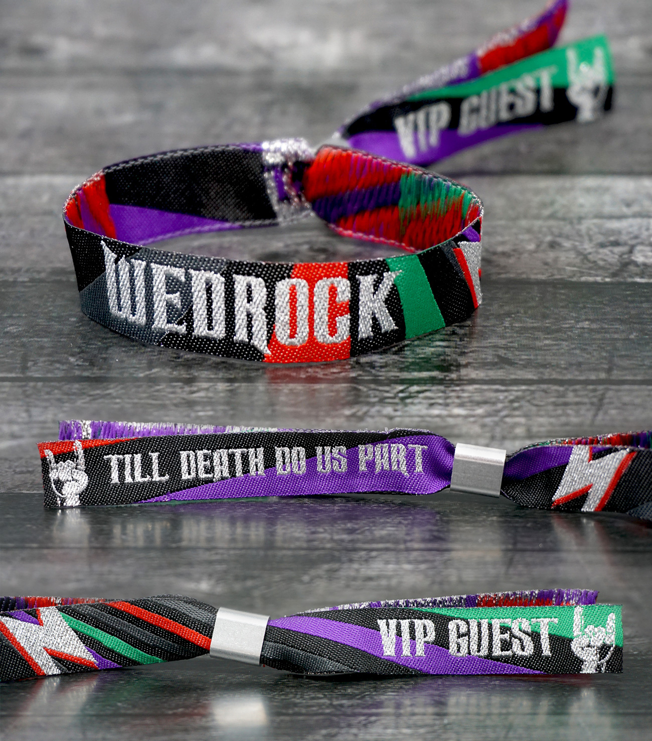wedrock rockers rock n roll wedding wristbands